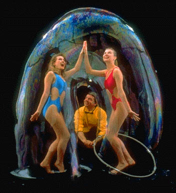 Models in a rainbow bubble